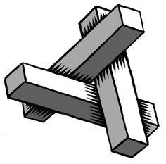 Three blocks: not impossible, bit it might make a nice logo!