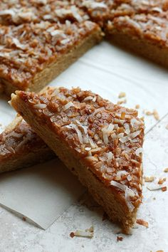 Biscoff Sugar Cookie Bars with Mascarpone Frosting and Toasted Coconut