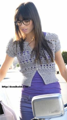 Crochet sweater with excellent diagram, use web translator for written instructions