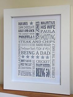 Dad's Favorite Things print Blue