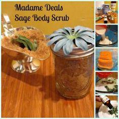 Homemade Body Scrub: Sugar and Sage