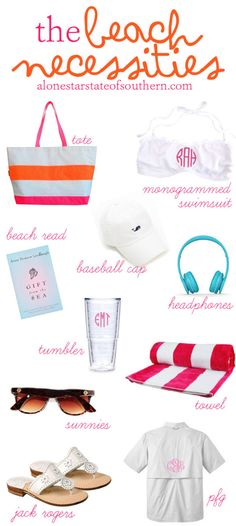 Preppy Summer Beach Accessories | Lone Star State of Southern