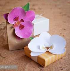 Tutorial e imprimibles para hacer orquideas de papel.
