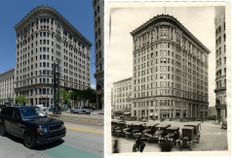 The Boston building as seen on May 20, 2014, left and at an unknown date in the early 1900s on the right.