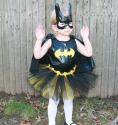 boy costume + tutu = girl costume.  Girl superhero costume