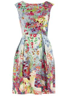 Multi floral print dress