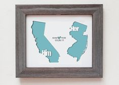 Personalized Paper Cut Out of TWO MAPS 8x10 for by Cropacature, $33.00 - would be cute for far away friends too :o)