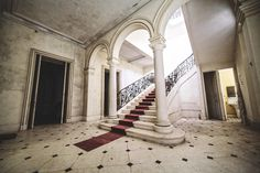 castle red carpet Haunting photos of abandoned castles