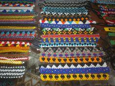 Chaquira Ngobe and Kuna  Indian  Hand Beaded by PanamaArt on Etsy, $8.00