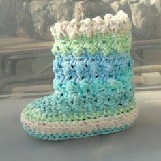 Free Crochet Baby Bootie Patterns | Crochet Pattern Baby Raindrop Booties Birth to 12 Months PDF 18 ...