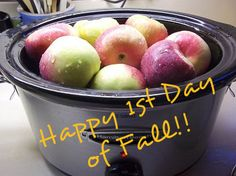 Crock Pot Recipe Exchange: 1st Day of Fall and a List of Crock Pot Apple Recipes