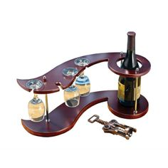 Wine Rack and Wine Glass Holders