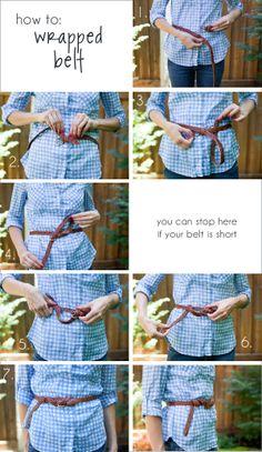 DIY belt tie