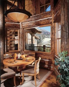 River Cabin - Traditional - Dining Room - Denver - RMT Architects