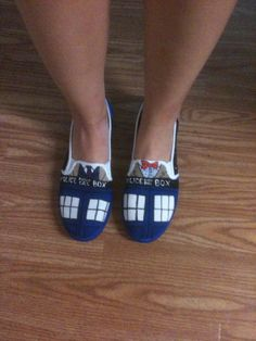 Doctor Who Shoes on Etsy <3