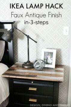 Give a basic lamp a Faux Antique Finish in just 3 steps! via @tarynatddd