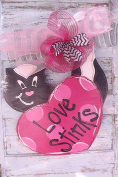 Valentine's Day Door Hanger in stock Heart by BluePickleDesigns, $45.00