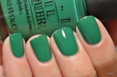 It's not easy being green  #nails #manicure #opi