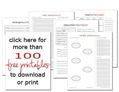 Great site - tons of free printables idea, organ printabl, christmas printables, planner, home binder, free printabl, household notebook, home organization, home management binder