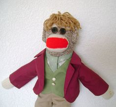 Bilbo Baggins Sock Monkey by DeedleDeeCreations on Etsy, $25.00