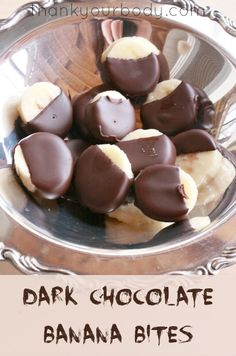frozen dark chocolate banana bites