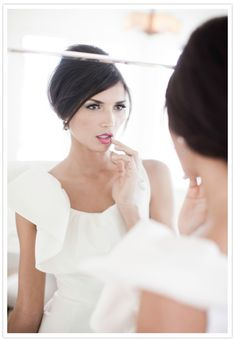 bride's hair + makeup...I am sure you already know what you want but I thought this was pretty.