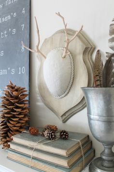 DIY Faux Driftwood Deer Antlers Easy Holiday Project-CF
