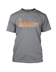 Available in Heather Gray, Heather Blue or Vintage Black this t-shirt is printed with the Knoxville skyline in orange. Sizes S-XXL for $24.95. Nothing Too Fancy