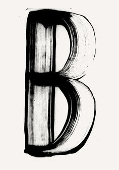 letter B / hand painted type