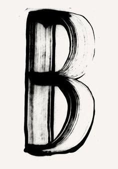 Brush stroke letterform