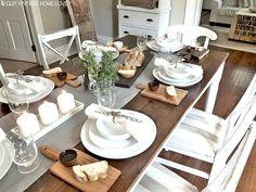 Dining Room, love the farmhouse table!