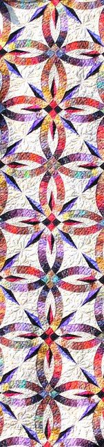Bali Bed Runner, Quiltworx.com, Made by Certified Instructor Diana Simkins.