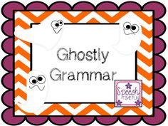 Speech Time Fun: Ghostly Grammar! (FREEBIE!!)