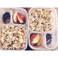 """""""Movie time! Homemade movie snack trays are so much better!"""" packed in @EasyLunchboxes 