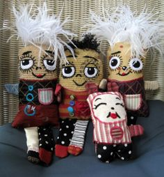 Dolls from Recycled Materials