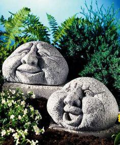 Garden accessoares - laughing & smiling faces!