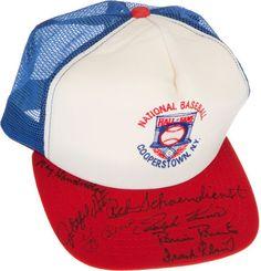 Baseball Hall of Famers Multi Signed Cap.