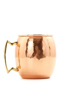 24oz. Solid Copper Hammered Finish Moscow Mule Mug