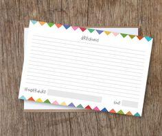 printabl recip, recip card, diy crafts, recipe cards, free recipe card