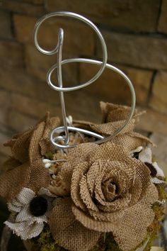 Charming Rustic Initial Wedding Cake by LinenAndLaceCompany, $9.99