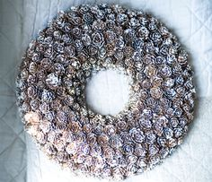 huge frosted pinecone wreath