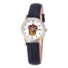 Bring+the+magic+with+you+in+this+Gryffindor+crest+adult+Women's+watch+featuring+a+gold+and+zinc+alloy+die-cast+face+and+a+genuine+leather+strap.+Presented+in+a+WBshop.com+branded+capsule+package,+this+watch+makes+a+great+gift!Approximate+Measurements:1+Inch+Diameter+Dial8+1/4+Inch+Band+Length