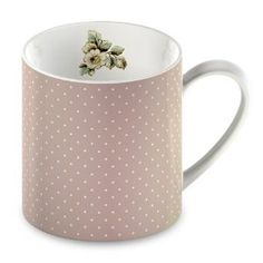 Katie Alice Cottage Flower Fine China Pink Spots Mug