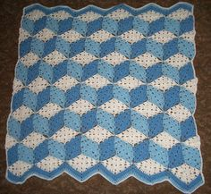 Baby Blocks Afghan - free crochet pattern