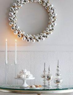 christmas wreaths, christma wreath, creativ christma, wreath idea, gold christma