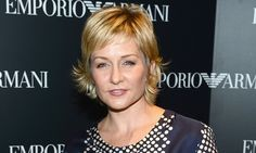 Amy Carlson's sassy short shag is pixie-short in the front, with lots of layers and length at the nape: cute, young and fun (and great for those of us with thinning locks.)More short hairstyles for older women:Adorable New Short Haircut for Over 50Short Hair Over 50Pixie Haircuts for Mature Women.