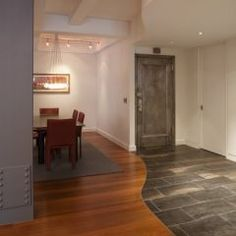 awesome flooring transition between tile and hardwood