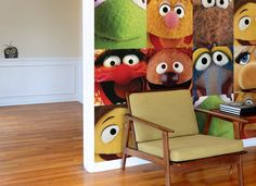 muppet wall tiles/peeking wall graphics (really for MY room)