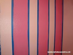How to paint stripes on the wall #DIY #tips
