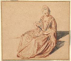 Seated Woman with a Fan-Jean by Antoine Watteau-1717-http://www.getty.edu/art/gettyguide/artObjectDetails?artobj=10 (through artcyclopedia)